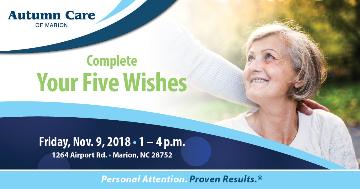 Complete Your Five Wishes